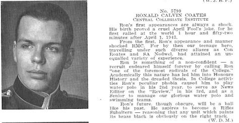 Coates, RC RMC 1963