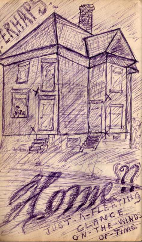 """Pridham's """"Home"""" sketch from Vol #4 of his diaries."""