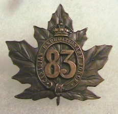 83rd Battalion Badge
