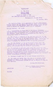 7 Oct 44 Notice from 21 Army Group