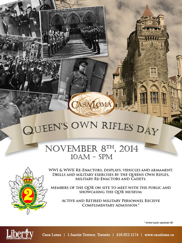 2014 QOR Day at Casa Loma
