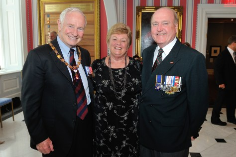 Major McCabe, his wife, and the Governor General in 2010 at 40th Anniversary the 1st Order of Military Merit