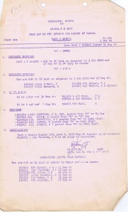 Page 1 Bn Orders 1 Oct 44