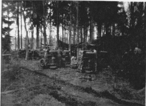 QOR Jeep maintenance in Woods La Capell France 11 Sept 1944