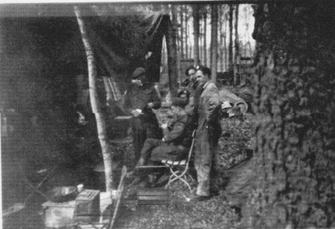 Rfn hanging out in woods La Capell France 11 Sept 1944