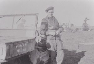 Rfn Jackson in Belgium Oct 1944