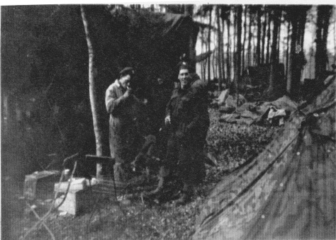 Rfn smoking in woods 11 Sept 44