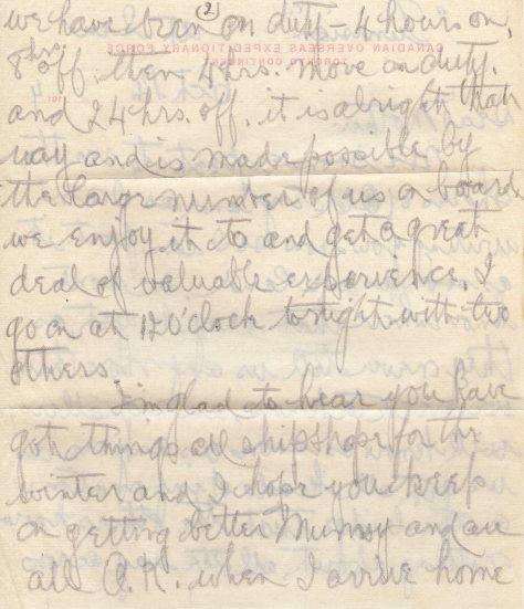 Lt Felton Behan, MM letter dated 14 October 1914 page 2