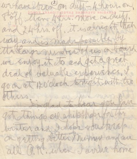 Lt Felton Behan, MM letter dated 14 October 1914 page 2