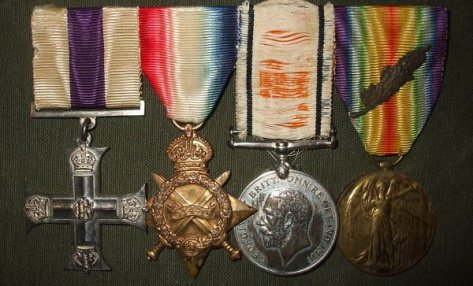 A nice Military Cross and Mentioned-in-Despatches group of four to Capt/Lt Col J.S.M.A.H. Lyne-Evans of The Royal Canadian Regiment. The Military Cross (M.C.) and British War Medal have frayed ribbons and the group is mounted as worn. The M.C. (identified in London Gazette (L.G.) Issue 23/6/15 is not named) and is one of the first of this decoration awarded and the first to The RCR. The 1914/15 star is named Capt. J.H. Lyne-Evans, 3/Can Inf: and the War & Victory (MID L.G. 22/6/15) medals are named Lt. Col. J.H. Lyne-Evans. Lt Col Lyne-Evans had previous service with the 17th Lancers (no medals) and joined The RCR 2/2/1912. While the The RCR did garrison duty in Bermuda the 1st Contingent, CEF, was preparing to head overseas and Lyne-Evans was seconded to the 12th Canadian Infantry as Captain and Adjutant in 1914. His MC and MID were awarded while he was with the 3rd Can Inf and he was wounded in the Second Battle of Ypres as mentioned on page199 and 208 of the Regiment's history, The Royal Canadian Regiment 1883-1933 by R.C. Fetherstonhaugh. He is also mentioned in the book, The Official Story of The Canadian Expeditionary Force Vol 1. on page 99 as having gone out into no man's land with a volunteer to rescue Captain Muntz. If I read this correctly, this rescue was during the battle of Festubert. Although Lyne-Evans was awarded his MC on the occasion of His Majesty's Birthday (no citation) it is likely that his actions in battle warranted some notice.