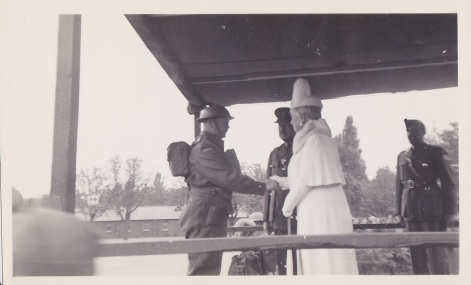Col McKendrick Meets Queen mary Review stand Sept 10 1941