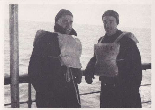 Rfn posing on boat 1941