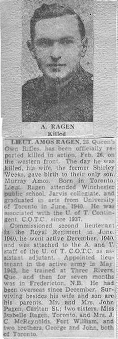 Lt Ragen Obituary