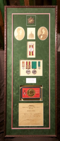 Shadow Box of South African War Memorabilia belonging to Edgar Henry Redway (04647)