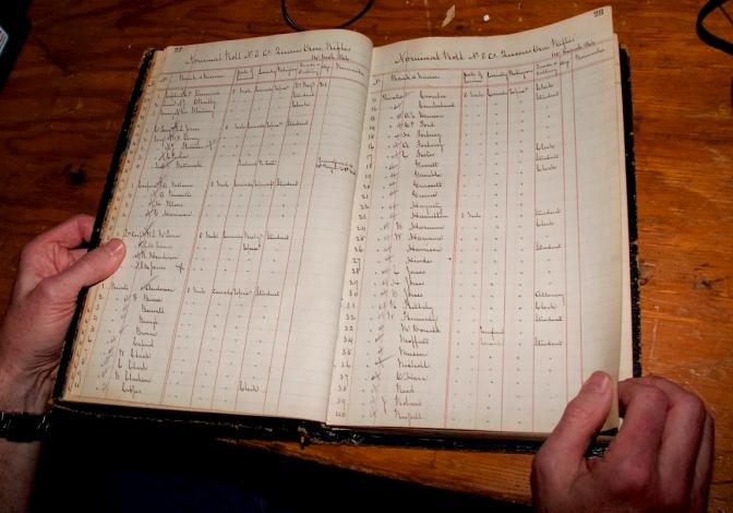 Nominal Rolls 1866 to 1882