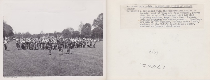 C Coy chasing three huns 17402 N Censor No 264840 England 1943