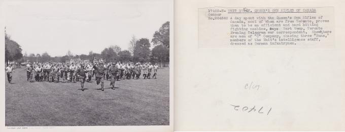 C Coy chasing three huns 17402 N Censor No 264840 England 1943