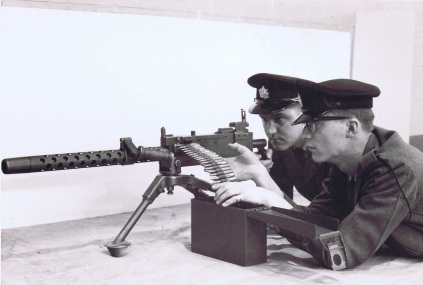 QOR Rifleman with .30 Caliber Machine Gun