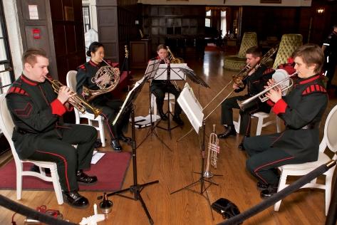 QOR Brass Quintet at Vimy to Juno launch