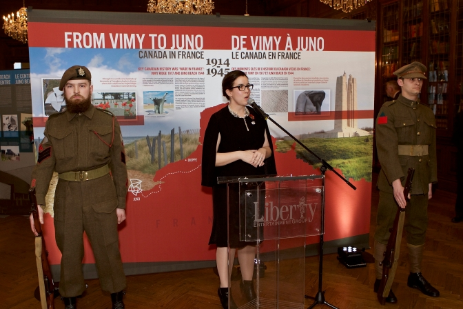 "Launch of the ""From Vimy to Juno"" Travelling Exhibit"