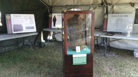 Ensign McEachern's tunic on display