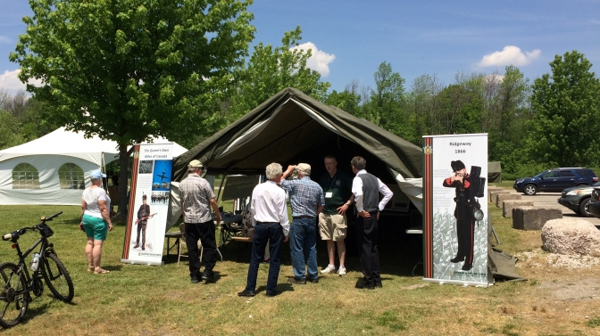 Museum display at 150th anniversary of the Battle of Ridgeway