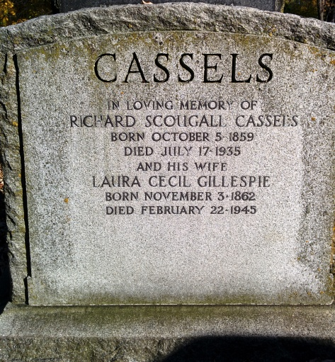 Grave marker of Captain Richard Scougall Cassels