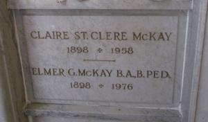 McKay, Elmer Garfield gravestone
