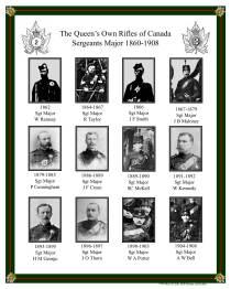 QOR Sgt Majors 1862-1908