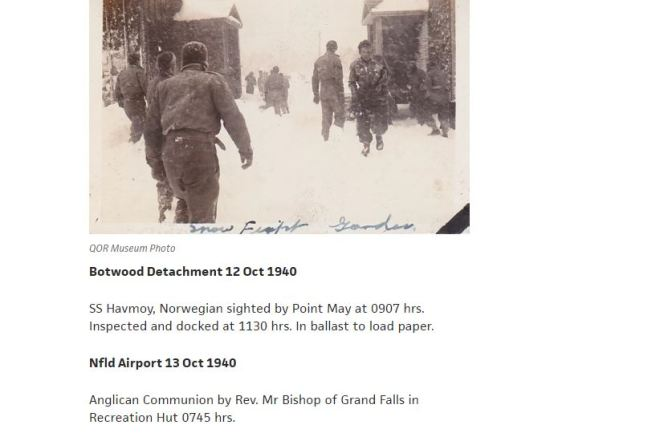 QOR WWII War Diaries Now Completely Online