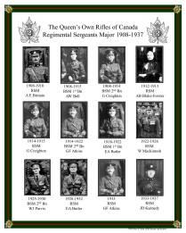 QOR Sgt Majors 1908-1937