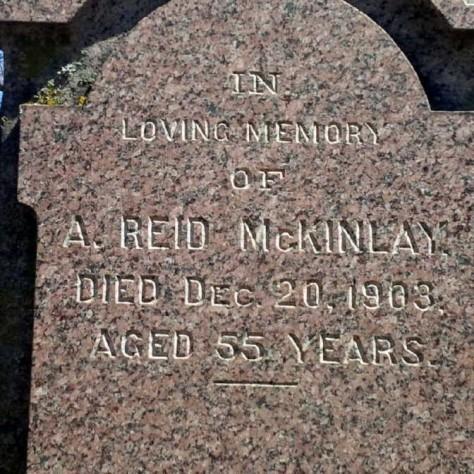 McKinlay, Archibald Reid gravestone