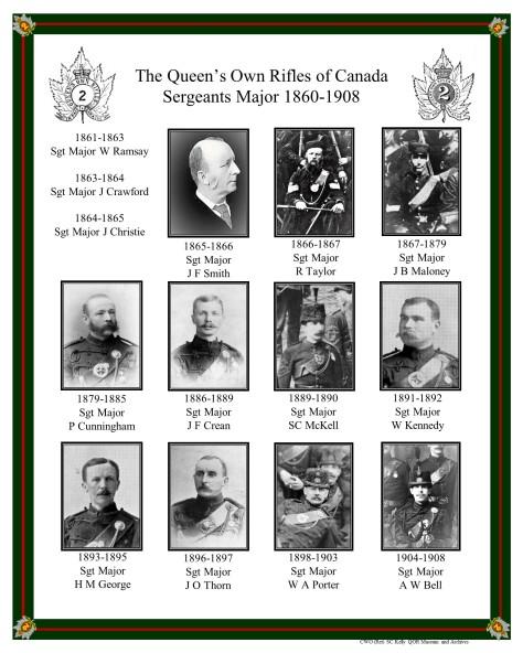 QOR Sgts Major 1860-1908
