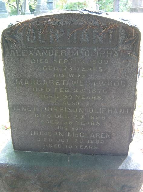 Oliphant, Alexander M Gravestone