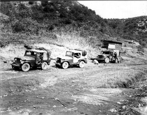 RSM William Demmy and his crew out on a patrol in Korea 1955