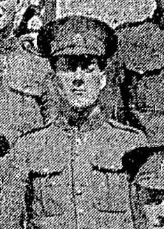 Photo of Leslie Frank Haider – Pte. Haider's photo appeared in the Toronto Star on September 8th, 1915, as part of a group photograph of men in training at Niagara Camp.2