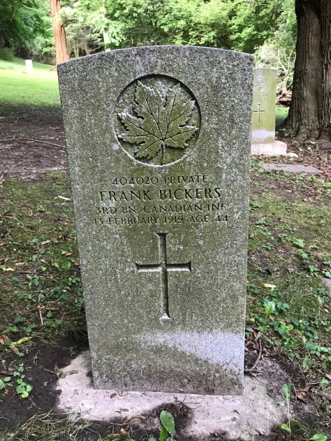 Bickers Grave Marker