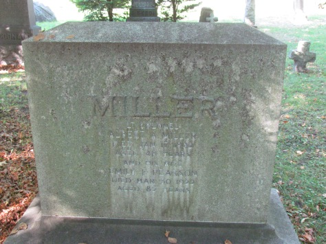 Miller, Albert A. Gravestone