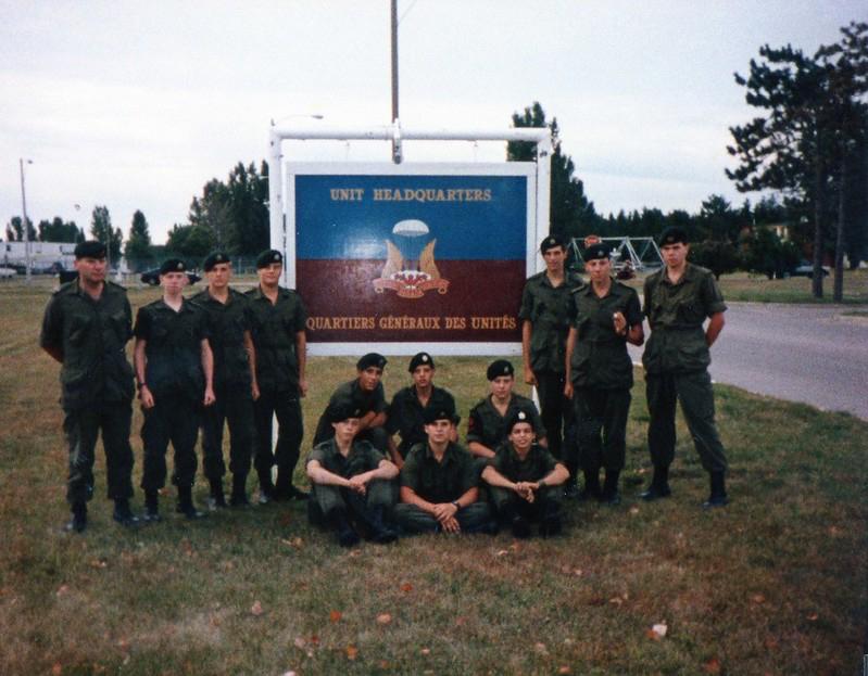 cadets at Airborne Regt HQ